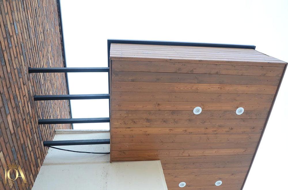 اجرای نمای چوبی